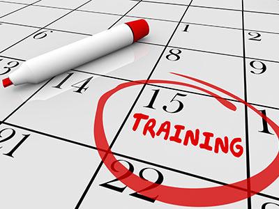 Training date on Calendar
